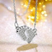 ZTUNG LSC71 women fine jewelry,lovely little feet shape pendant,925 silver jewelry is young girl favorite