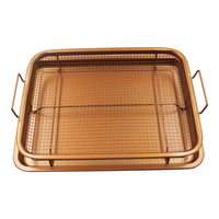2pcs set Stainless Steel Basket Fried filter drainage rack fruit basket chef Kitchen Tools mom's gift