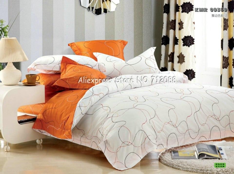 Orange And White Duvet Robotena