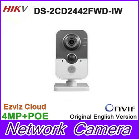 Original Hikvision DS-2CD2442FWD-IW replace DS-2CD2432F-IW 4MP IR Cube Network Camera Wifi IP mic sd card slot built in mi b2y iw