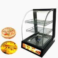 Jamielin Electric Curved Glass Warmer Showcase Fast Food Equipment Food Display Cabinet Food Warming Display