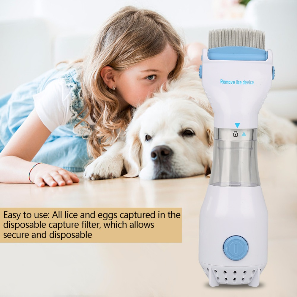 Pet Supplies Electric Terminator Anti Removal Kill Lice Cleaner Puppies Fleas Electronic Lice Comb For Cat Dog מסרק כינים