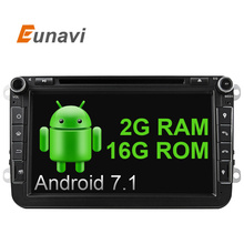 Eunavi 2 г Оперативная память 8 дюймов 4 ядра android 7.1 2 DIN DVD для автомобиля VW Jetta Tiguan Passat B6Touran caddy Amarok Гольф EOS dab BT GPS