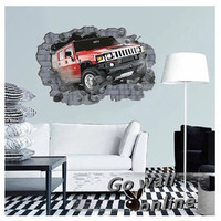 Best Selling 3D Wall Sticker Cars Kids Living Bed Room Stickers Decals Pegatinas De Pared
