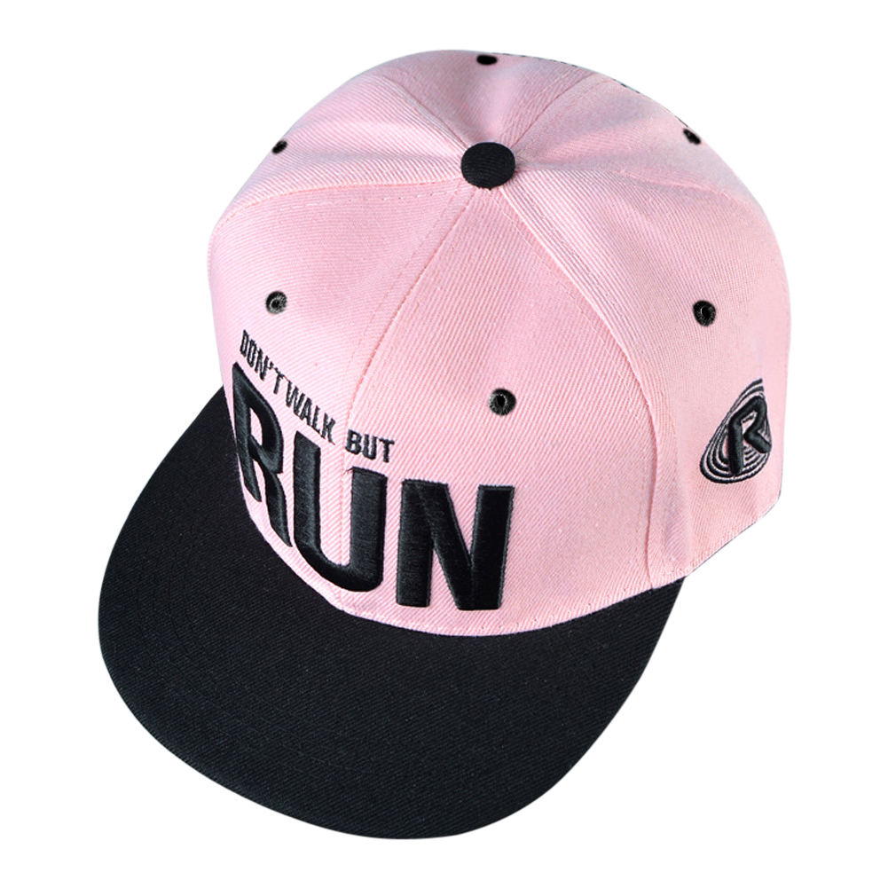 Camo Run Letter Snapback Baseball Cap Camouflage Hip Hop Hat Outdoor Sports Street Dance Fashion Casual Pink Hat for Men Women