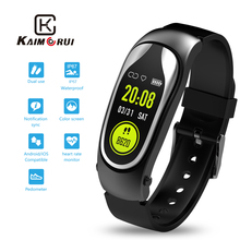 Fitness Bracelet Smart Band Bluetooth Headset Answer Call Run Walk Wristband with Earphones for Xiaomi Huawei Phone