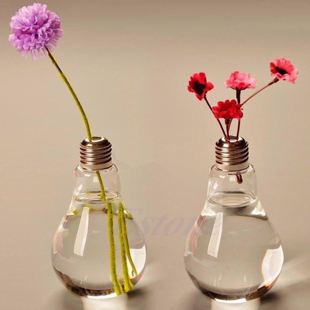 Modern Glass Bulb Lamp Shape Flower Water Plant Hanging