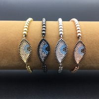my1243-marquise-shape-micro-paved-cz-zircon-turkish-style-evil-eye-bracelet-with-4mm-beads-and-adjustable-rope-chain-jewelry
