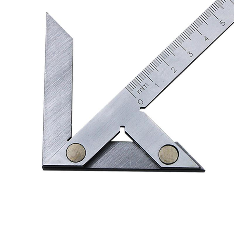 Multifunction Center Gauge 100x70mm High Precision Center Angle Gauge Protractor Angle Ruler Goniometer Center Ruler