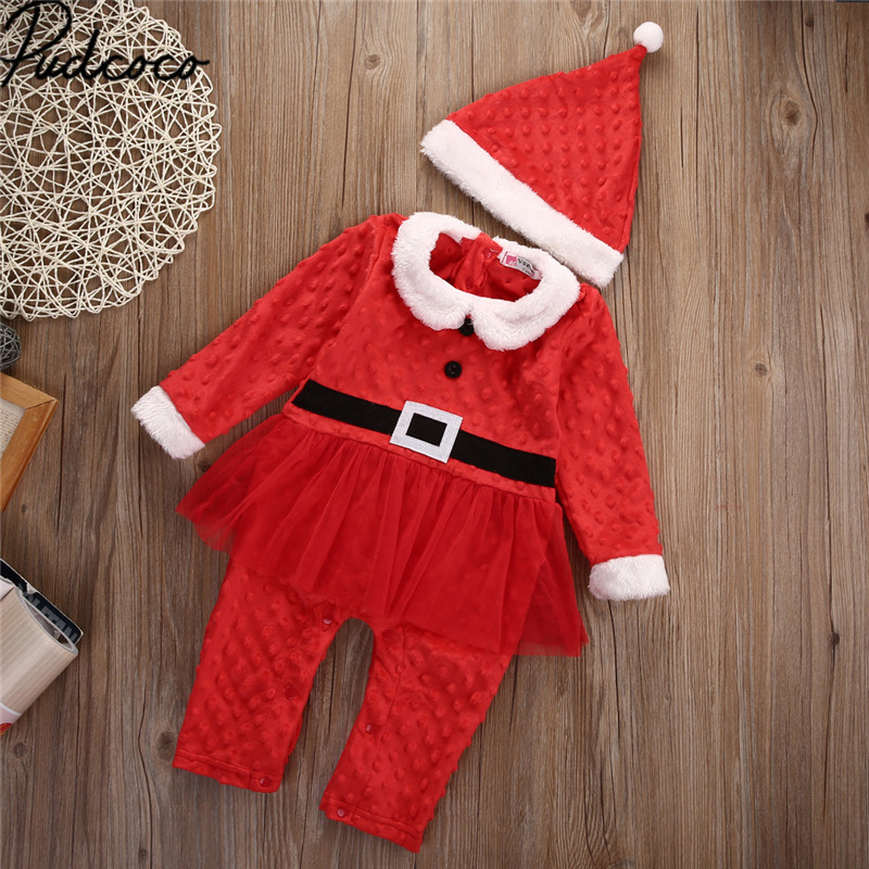ea1e28278 2017 Xmas Christmas Baby Clothes 0 24M Newborn Baby Boys Girls Santa ...