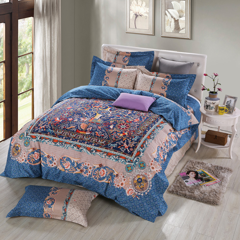 elegant european retro bedding sets queen king size duvet cover pillow case bed sheets high quality pure cotton bedroom sets