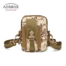 Aosbos Outdoor MilitaryTactic Bag Nylon Waterproof Waist Bag Camouflage Sports Bags for Camping Hiking Molle Tactic Shoulder Bag