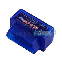 Hardware Super MINI ELM327 Software V2.1 Bluetooth 12Kinds Multi-Langugae OBDII CAN-BUS Works for Android Torque/PC(China (Mainland))