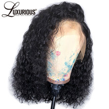 Curly 360 Lace Frontal Wigs For Women Pre Plucked Hairline With Baby Hair Brazilian Remy Short Bob Lace Front Human Hair Wigs(China)