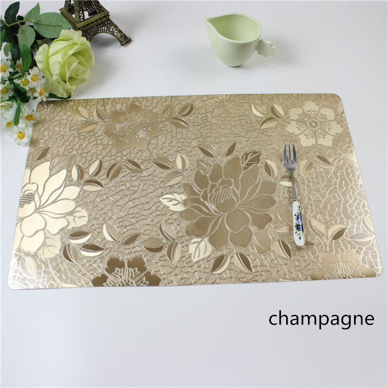 4pcs Lot Christmas Placemats Pvc Placemat Bar Mat
