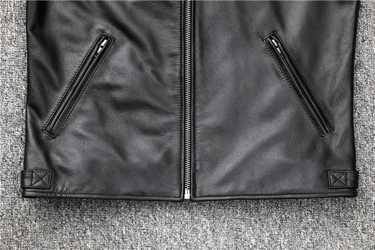 HTB1GFh5aoT1gK0jSZFrq6ANCXXae Free shipping.fashion style warm mens leather coat,biker cowhide Jacket,black genuine Leather coat.plus size homme slim,cool