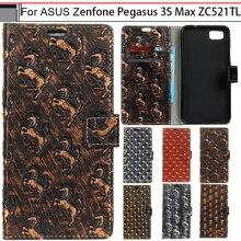 Пегас ЧЖУРЧЖЭНЕЙ Для ASUS Zenfone 3 S Макс ZC521TL Случай Кожи Сальто металл Стиль Бумажник Чехол Для ASUS Zenfone 3 S МАКС Случае 5.2″