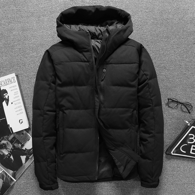 Brand Mens Duck Down Jackets Winter Slim Warm Hoodies Jacket Coats Thick Coat Zipper Casual Fashion Outerwear New Arrival