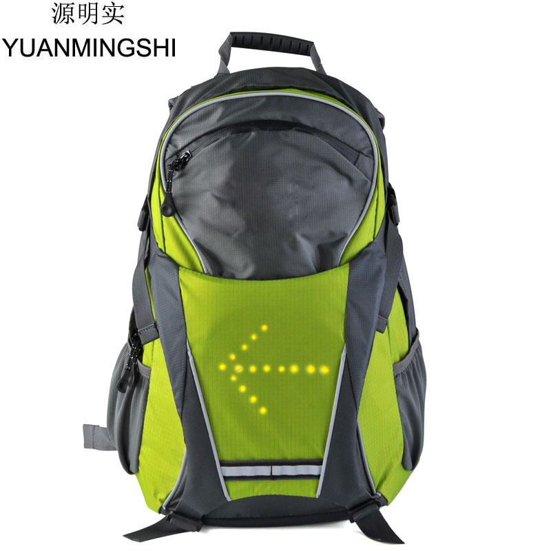 YUANMINGSHI Cycling Motorcycle High Visiblity 18L Backpack Bag With Turn Signal Reflective Vest Backpack for Night Cycling
