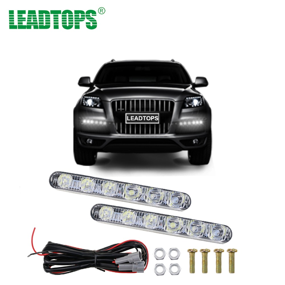 цены 1Set Daytime Running lights For Cars LED Lights 12V Waterproof DRL Car Headlight Power Auto led lightBeam Aluminum Driving BE
