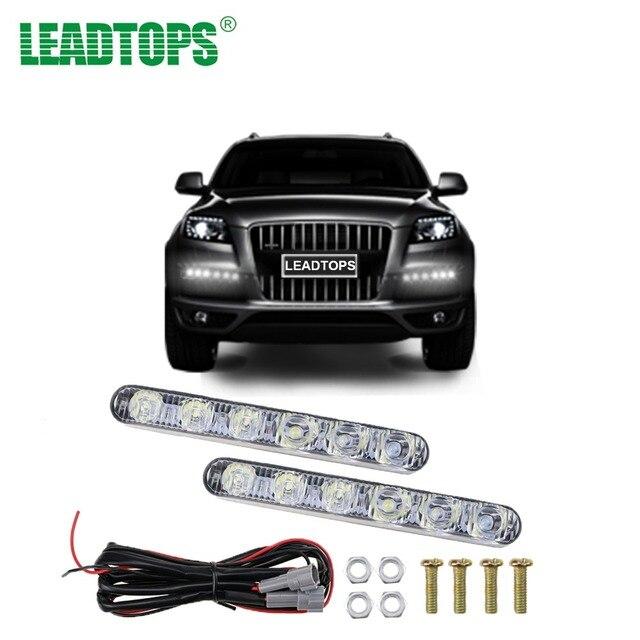 Led Lights For Cars >> 1set Daytime Running Lights For Cars Led Lights 12v Waterproof Drl