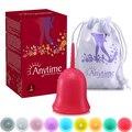2017 nueva marca anytime softcup femenino higiene menstrual copa de silicona de grado médico para mujer free gratis amc02