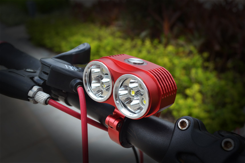 New 10000 Lumen 6x XML T6 LED Bike Light Front Bicycle Lamp Outdoor Flash Light +10800 mAh Battery Pack & Charger bike light x2 5000 lumen light bicycle lamp 2x cree xml u2 led bicyclelight bike headlamp battery pack charger