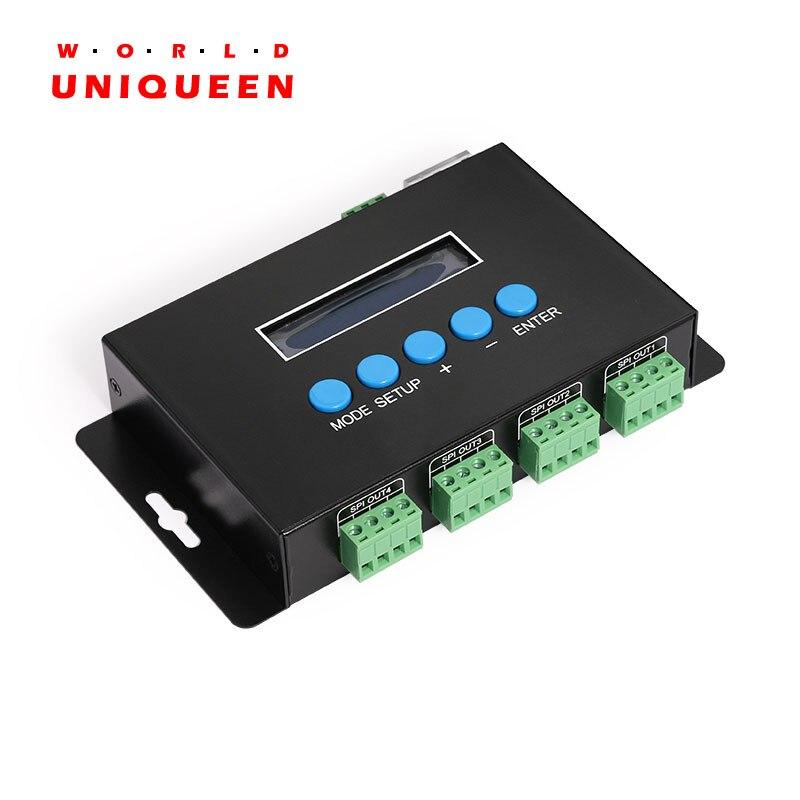 DC5-24V 7AX4CH ether-spi/DMX LED Pixel lumière RGBW contrôleur soutien IC 2811/2801/6803/3001/8806/TM1814/SK6812 pour ampoules LED
