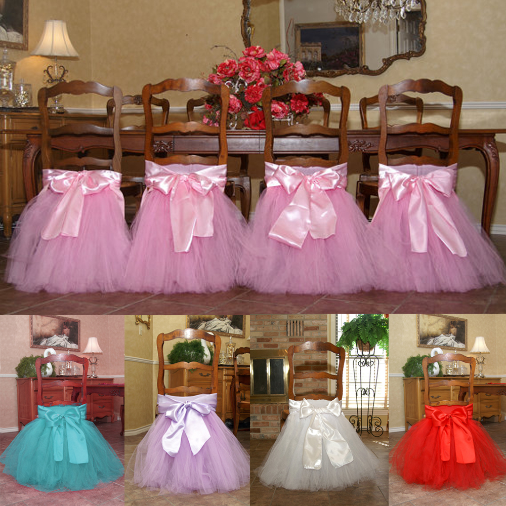 Us 29 99 Handcrafted Chair Tutus Skirt Include The Bow For Restaurant Banquet Wedding Birtyday Party Baby Shower Decorations In Chair Cover From