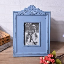 New European Retro Photo Frame Old Home Decor 6 Inch Wooden Wall Decorative Desktop Ornaments