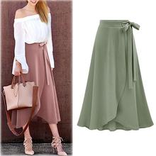 2019 New Yfashion Women Fashion Medium-length High-waisted Casual Skirt Top Selling