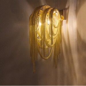 Image 4 - อิตาเลี่ยน Atlantis Luxury Chain Light โคมไฟกระจก Stream sconce ห้องน้ำโคมไฟห้องนอนสำหรับ LOFT decor
