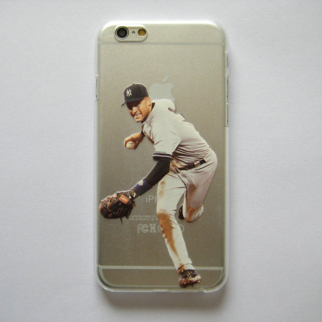 separation shoes 6f9f1 a3f8a US $2.51 |PC Hard Clear Case for iphone 6 6s 6plus 5 5s SE Baseball player  Mike Trout Derek jeter Printed Phone Cover-in Half-wrapped Case from ...