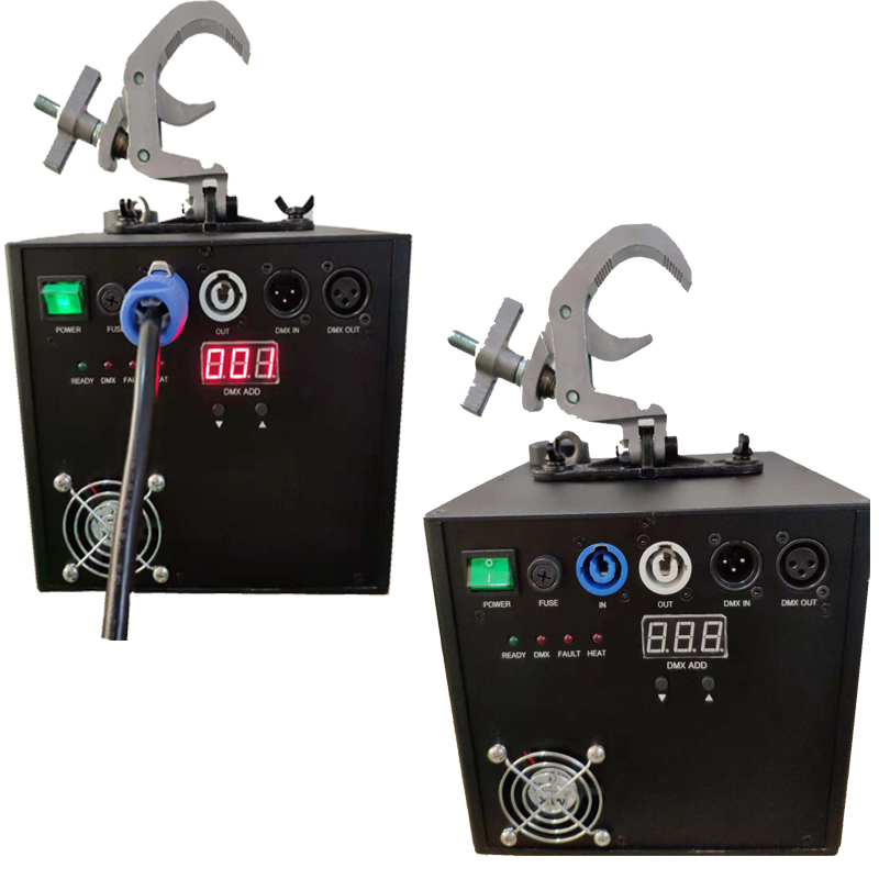 Stock 400W froid cascade étincelle Machine DMX télécommande fontaine feux d'artifice pour mariage TI poudre bémol