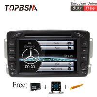 TOPBSNA 7 дюймов 2 DIN Автомобильный мультимедийный плеер для Mercedes Benz CLK W209 W203 W168 W208 W463 W170 Vaneo Viano vito Прокат dvd плеер