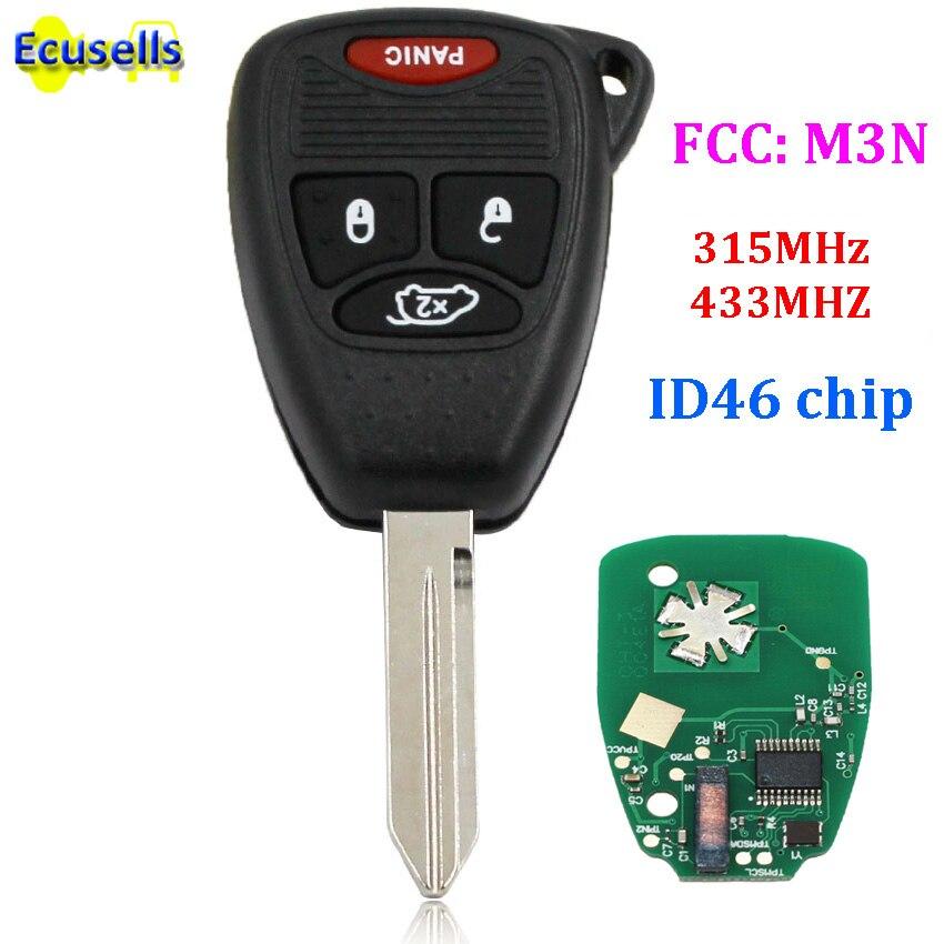 Top New Uncut Remote Key Fob 3 Button for 2006-2008 Dodge 1500 2500 3500 FCC OHT