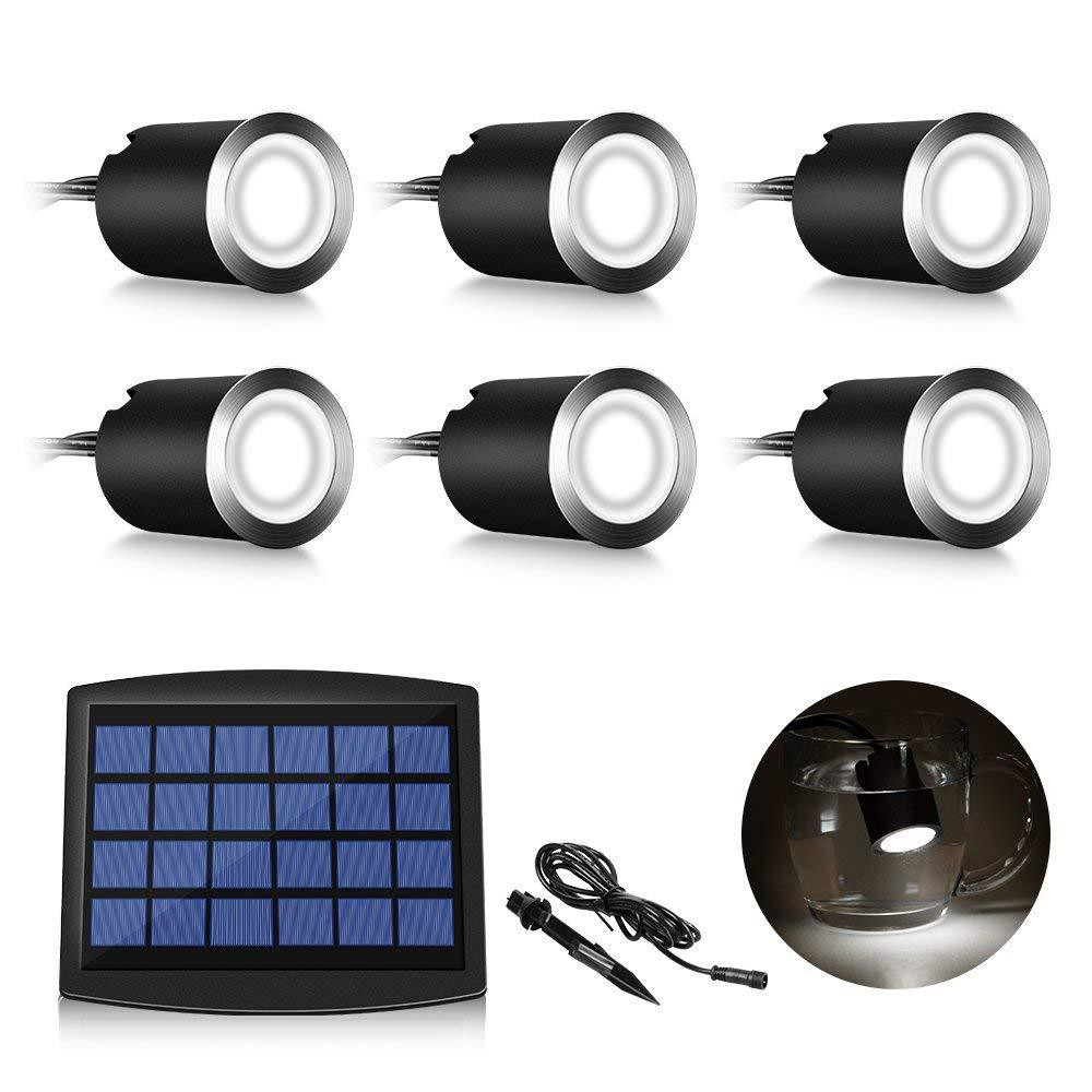 6pcs/Set LED Solar Underground Light warm white Waterproof Ground Path Buried Landscape Outdoor Led Deck Light Pathway Step6pcs/Set LED Solar Underground Light warm white Waterproof Ground Path Buried Landscape Outdoor Led Deck Light Pathway Step