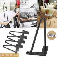4Pcs/Set 8/12Inch Black Iron Dining Table Computer Desk Legs For DIY Handcrafts Furniture Coffee Table Chair Leg