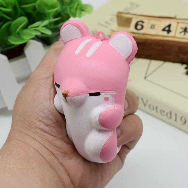 Helen115 Creative Soft PU Jumbo Squishy Squeeze Fidget Hamster Relieve Stress Rising Toys