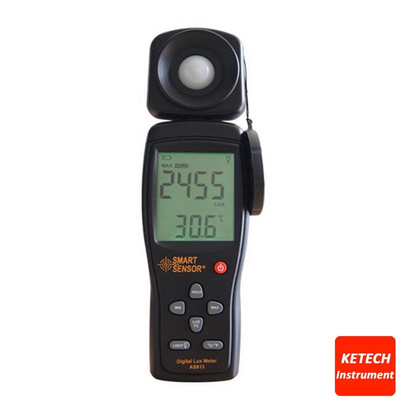 Lux Meter Digital Light Meter Lumen Meter Photometer 1~100.000lux AS813Lux Meter Digital Light Meter Lumen Meter Photometer 1~100.000lux AS813
