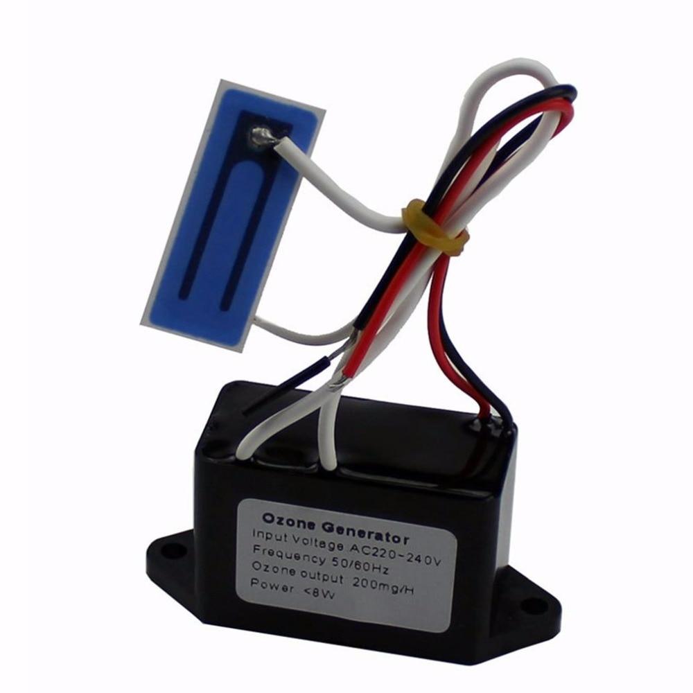 Портативный генератора озона Воздухоочистители очиститель воздуха фильтру дома дезинфекция Дезодорация DIY оборудование 200 мг/ч AC220V