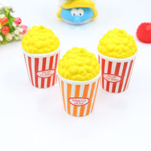 12CM Kawaii Squishy Jumbo Popcorn Slow Rising Cream Scented Phone Strap Food Simulation Squeeze Kid Toy Christmas Xmas Gift(China)