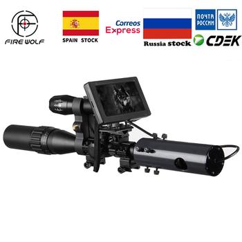 Polowanie na dziką przyrodę pułapki na podczerwień IR noktowizor kamery zewnętrzne wodoodporne kamery 850nm IR Torch tanie i dobre opinie fire wolf Karabin Obiektyw FW54-YSY016 Black