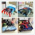 Бесплатная доставка Капитан Америка Коралловый флис одеяла на кровати, Super Hero постельное белье, крышка бросок, Покрывало 150 х 200 СМ 11 дизайн
