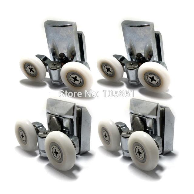 set von 4 zinklegierung duschtr rollen 2 oberen und 2 unteren 25mm - Duschtur Rollen