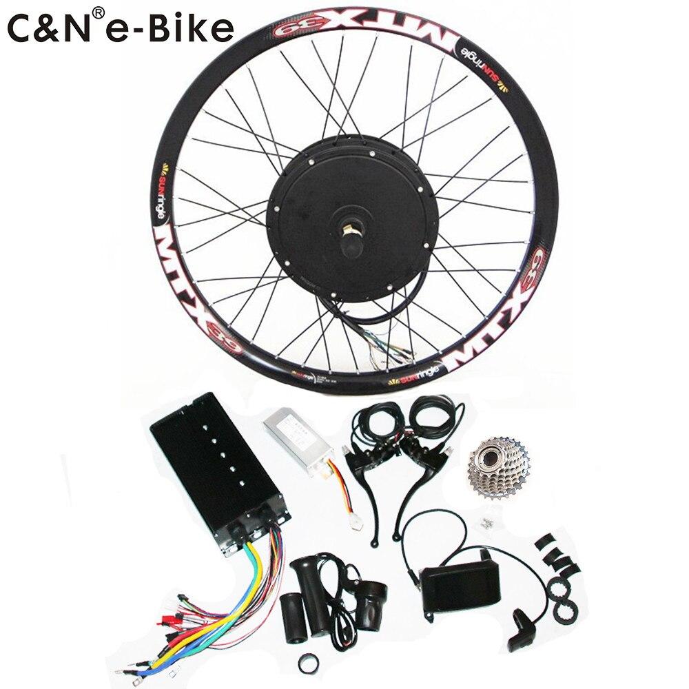2019 Super speed 5000w powerful wheel hub motor kits with TFT display electric bike conversion kit