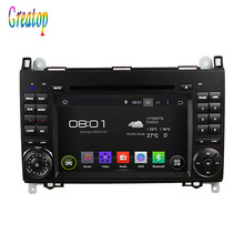 ROM 16G Quad Core 1024*600 Android 5.1.1 Fit Mercedes Benz W169 W245 Viano Vito  Car DVD Player GPS TV 3G Radio WiFi Bluetooth
