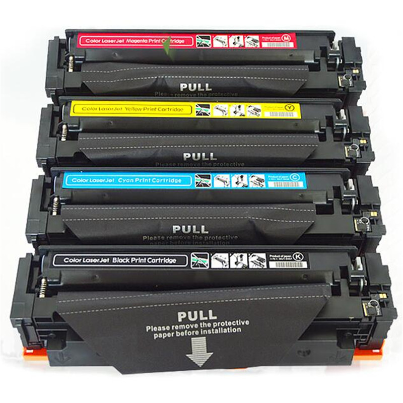 4pcs/set CF410A CF410 410A toner cartridge compatible For HP Color LaserJet Pro 425 477 printer