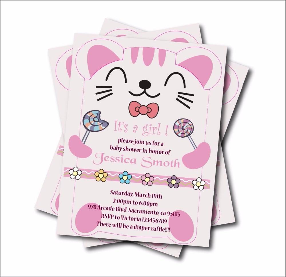 Online Buy Wholesale cat birthday invitations from China cat – Cat Birthday Invitations