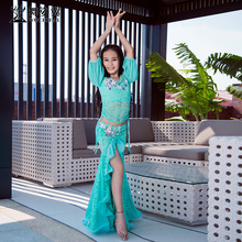 Dancing Wing Children Belly Dance Show Outfit RT312 New Autumn and Winter Lace Oriental Dance Skirt Suit 2018